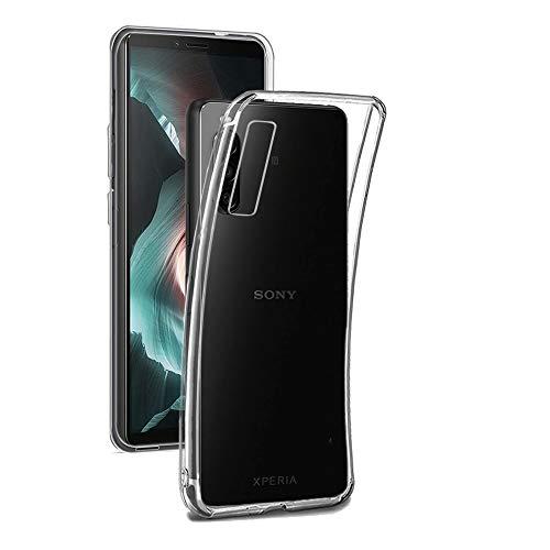 REY - Pack 3X Transparente Silikonhülle TPU für Sony Xperia 10II - 10 II, Handyhülle Premium Kratzfest TPU Durchsichtige Schutzhülle, Ultradünne 0,33 mm