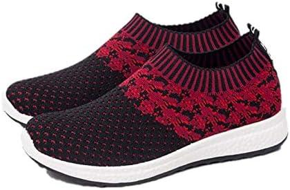 ZGC Women Atheletic Comfortable Walking Shoes - BlackRed - Size