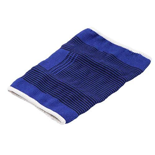 Ajustable, suave, elástico, transpirable, soporte, rodillera, protector, almohadilla, vendaje deportivo, seguridad, protector, correa, para, baloncesto, azul