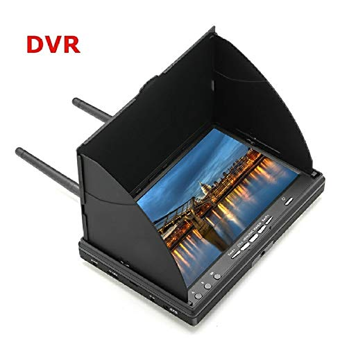 MeterMall LCD5802D 5802 5.8G 40CH 7Inch FPV Monitor with DVR Build-in Battery Video Screen Antenna AV Cable Charger Set With DVR U.S. regulations