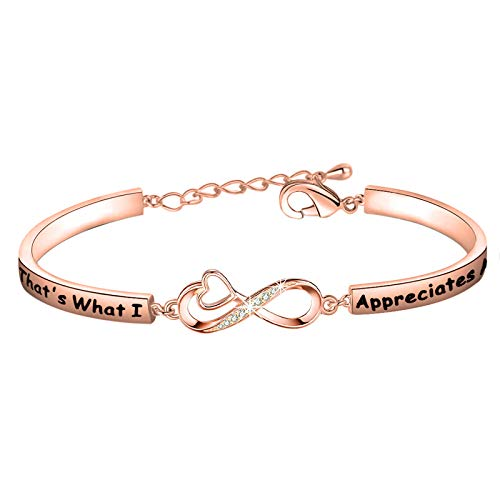 CENWA Letterkenny Inspired Gift Squirrelly Dan Quote That's What I Appreciates About You Bracelet (Appreciates About You Br RG)