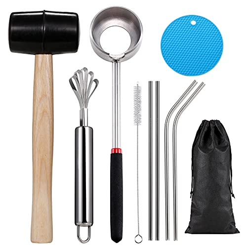 Coconut Opener Tool, Food Grade Stainless Steel Coco Nut Opener Kit, Safe & Easy to Open Young &...