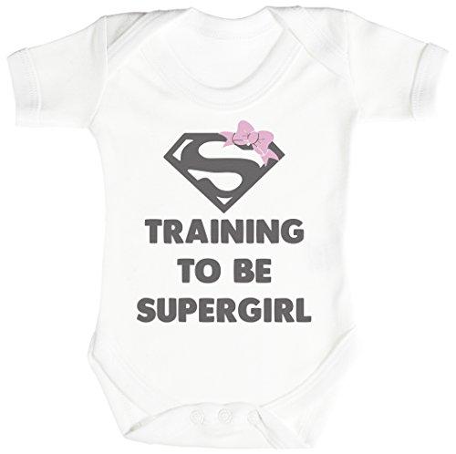 Baby Buddha Training To Be Super Girl Body bébé - Gilet bébé - Body bébé ensemble-cadeau - Naissance Blanc