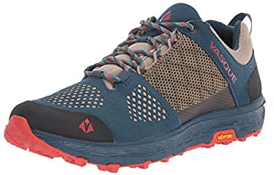 Vasque Women's Breeze LT Low GTX Gore-Tex Waterproof Breathable Hiking Shoe, Blue/Red, 7.5 M US