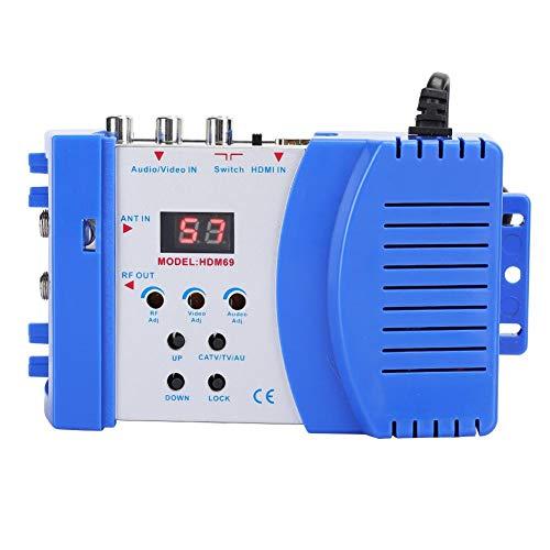 Dpofirs Modulador Digital, convertidor de AV a RF VHF UHF PAL/NTSC Modulador portátil estándar Audio Video TV Convertidor de señal HDMI AV Soporte de Entrada NTSC PAL Formato de TV Salida