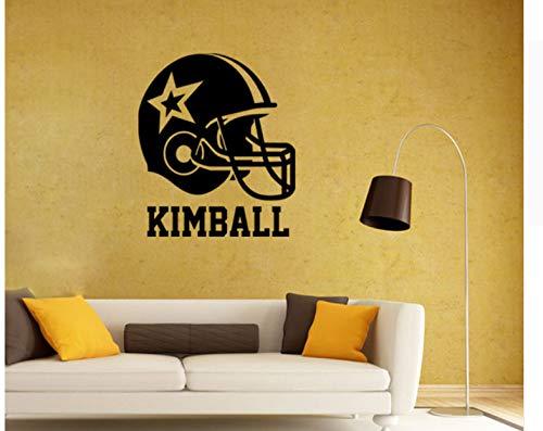 Casco de fútbol americano pegatinas de pared decoración