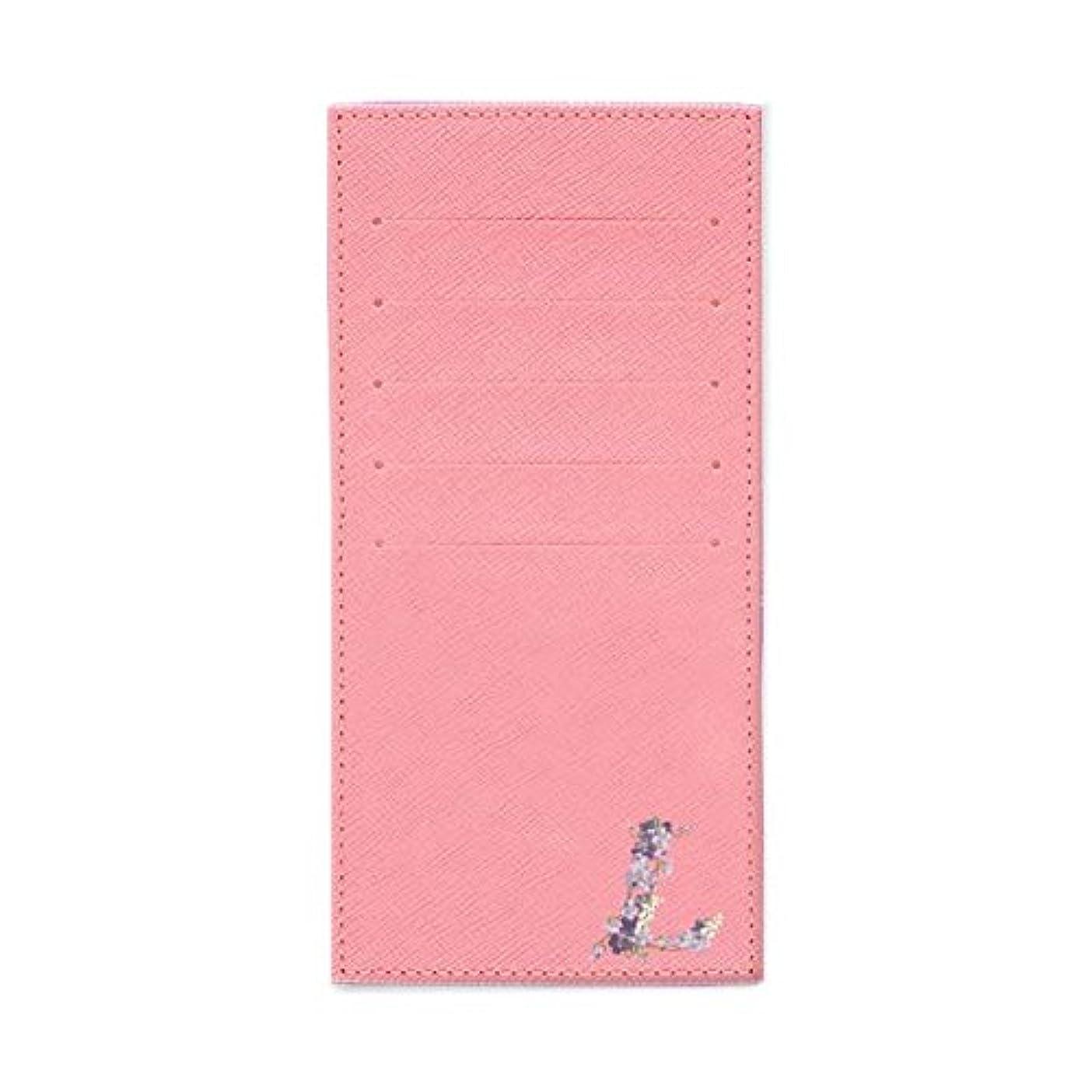 ハンバーガー派生する割り込みインナーカードケース 長財布用カードケース 10枚収納可能 カード入れ 収納 プレゼント ギフト 2800フラワーネーム (L) パウダーピンク mirai