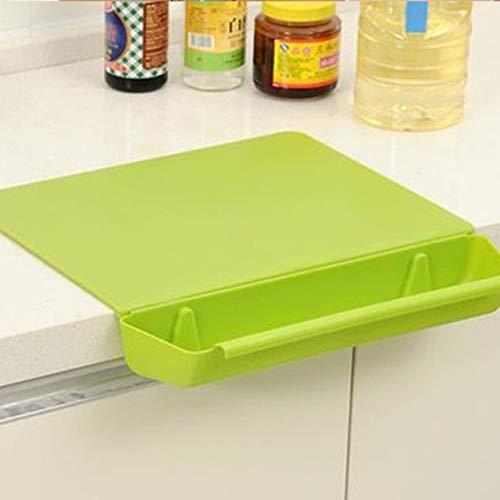MYSdd Pannello per impastare della Frutta Antiscivolo del Tagliere Famiglia con Il Cestino di immagazzinaggio della Verdura Tagliere Cucina Forniture - 1, A1