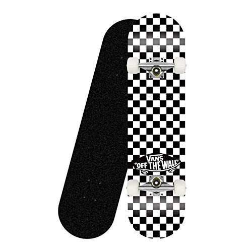"Standard Tricks Skateboard Completo 31""Patrón a Cuadros 7 Capas Maple Decks Tabla de Skate cóncava de Doble Patada, Soporte Negro"