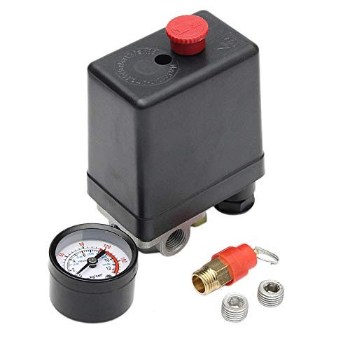 ZGQA-GQA Bomba de aire de presión del compresor 90-120 PSI interruptor de control de la válvula 12 Bar 240V 4 puertos caliente