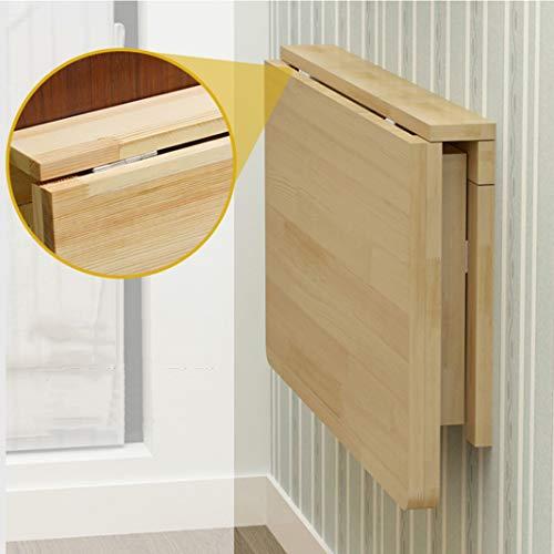 Wandklapptisch Klapptisch,Tisch ausklappbar Küchentisch Esstisch klappbar aus Holz An der Wand hängender länglicher und Esstisch, Schreibtisch, Frühstückstisch Schreibtisch Mehrzwecktisch