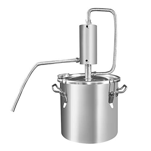 CLING Kits elaboración Vino Moonshine Destilador Acero Inoxidable Agua sin Gas Brandy Grape Vodka Spirit Destilación aceites Esenciales Kit de elaboración casera con termómetro Bomba de AG