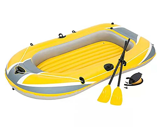 LJTT Kayaking Grossed PVC Three-Person Barco de Pesca a la Deriva Barco Inflable Barco Inflable Barco Inflable con la Bomba de pie Doble