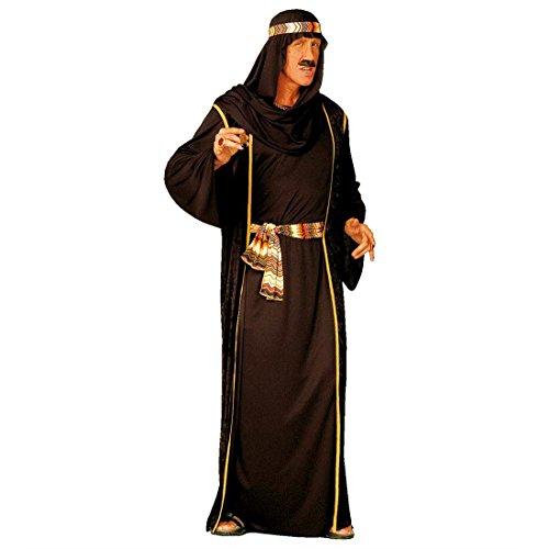Scheich Kostüm Araber Scheichkostüm schwarz L (52) Orient Araberkostüm Herren Orientkostüm Sultan Faschingskostüm Kalif Ölscheich Tuareg Selim Arabisches Karnevalskostüm 1000 Nacht Mottoparty