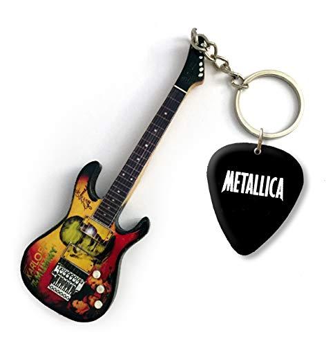 Metallica Mummy DS Llavero de Guitarra y púa a Juego