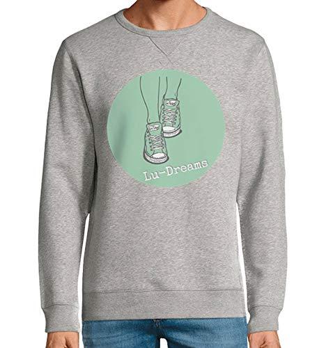 tostadora - Hoodie Logo Lu-traume - Manner und Frauen Grau meliert 3XL
