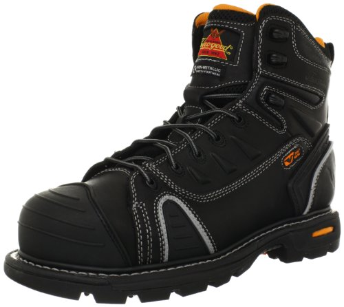 Thorogood Gen-Flex 6-Inch Lace-Toe Composite Work Boot, Black Leather, 9.5 M US
