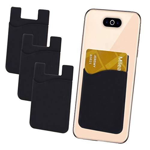 i-Tronixs - Confezione da 3 Porta Carte di Credito per la Parte Posteriore del Telefono, in Silicone con Adesivo 3M, per Xiaolajiao K2 (Compatibile con iPhone/Android/Tablet)