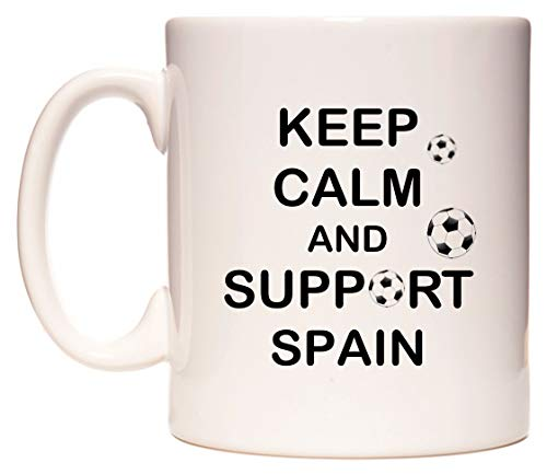 Keep Calm And Support Spain Taza por WeDoMugs®