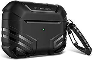 MOBOSI Vanguard Armor Series Military AirPods Pro Case, Full-Body Hard Shell Protective Cover Case Skin with Keychain for...