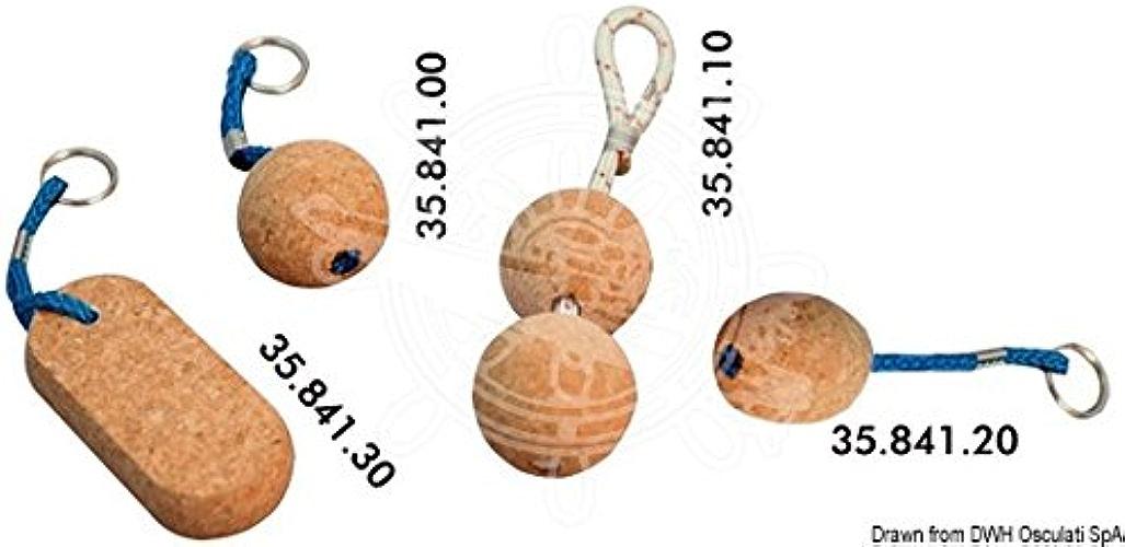 OSCULATI Porte-clés Flottant en liège Deux Boules