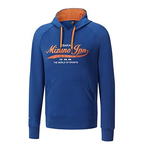 Mizuno Heritage Sweat-shirt Homme Bleu Marine/Nautical Blue FR : XL (Taille Fabricant : XL)_798