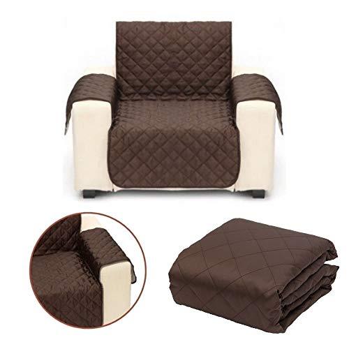 Hundedecke für die Couch und Sofa wasserabweisend und knitterfrei Sofaschutz für Hunde in DREI verschiedenen Größen in Dunkelbraun (S (Einsitzer))