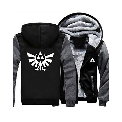 pZgfg Anime Hoodie Jacke Unisex The Legend of Zelda Cosplay Verdicken Jacket Sweashirt Mantel Strickjacke XL