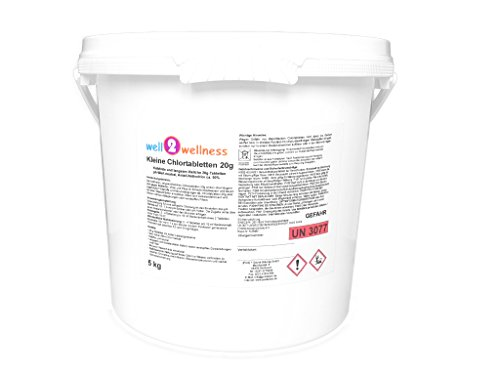 well2wellness Kleine Chlortabletten 20g - langsam löslich + 90% Aktivchlor, 5,0 kg