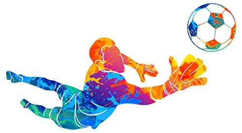dekodino® Wandtattoo Fußball Torwart in bunt Jugendzimmer Wanddeko Teenager