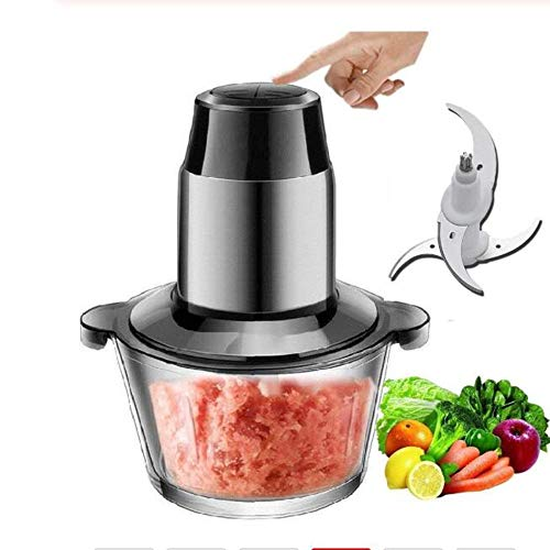 SISHUINIANHUA 300W 2L 304 Edelstahl Cup Elektro One-Key Food-Frucht-Gemüse-Fleischwolf Hackfleisch Rühren Küchenwerkzeug
