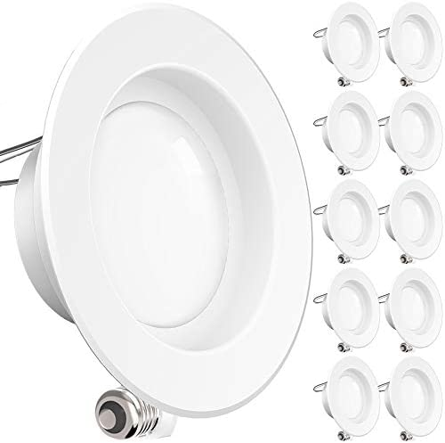Sunco Lighting 10 Pack 4 Inch LED Recessed Downlight Smooth Trim Dimmable 11W 60W 5000K Daylight product image