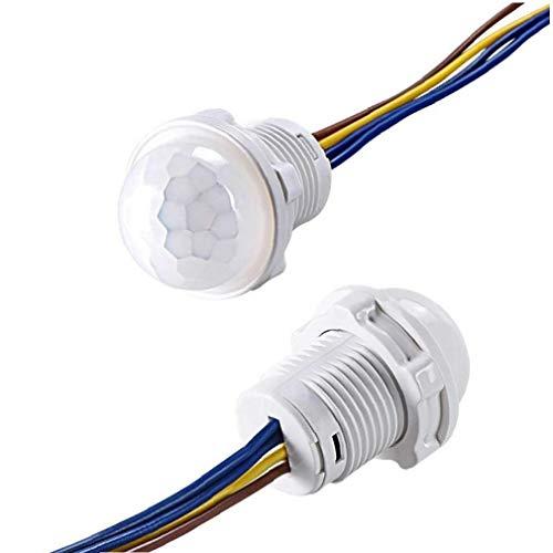 Ayrsjcl Interruptor 1pc Mini Sensor De Movimiento Pir Interruptor del Sensor Pir Armario Interruptor 110v 220v Pir De Infrarrojos Automático De La Luz del Sensor De Movimiento