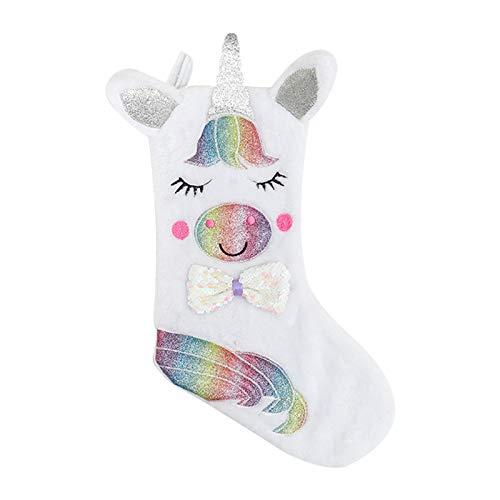 Honorall Christmas Candy Stocking Schnittmuster Wiederverwendbare Einkaufstaschen Geschenk-Einkaufstasche Happy Hanging Socks für Urlaubs- und Weihnachtsdekorationen
