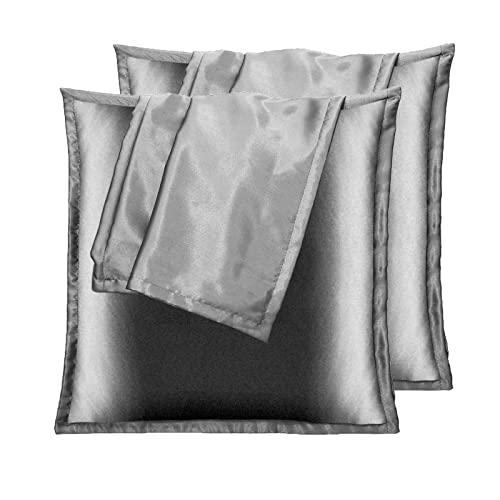Vielit 2 Stück Satin Kissenbezug 40x40, ähnlich wie Seide, Kopfkissenbezug Satin Pillowcase Kissen Bezug Kissenhülle für Haar und Haut
