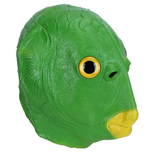 Mxzzand Waschbare Cosplay Prop Latex Kopfbedeckung Naturlatex Kopfmasken Latex Gesichtsbedeckung für Wohnkultur