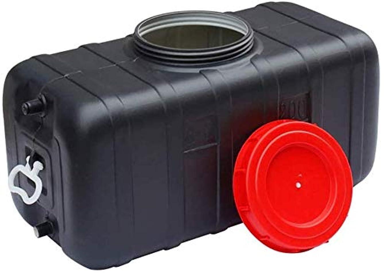 故国軽減真面目なブラック水タンクポータブルソーラー水貯蔵容器ホーム厚いプラスチック乾燥バケツ夏の露天風呂バケツの水容器 (Color : With accessories, Size : 115L)