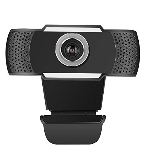 720P Full HD Webcam with Microphone, AQHQUA USB Auto Focus Web Camera for Laptop Desktop Mac Streaming Video Calling Recording Video Conference Online Teaching - Plug & Play with Rotating Clip