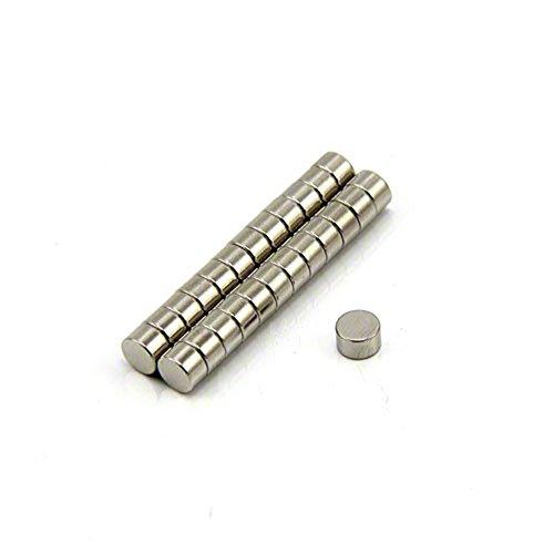 first4magnets™ 5mm Durchmesser x 3mm dicken N42 Neodym-Magneten-0,76 kg ziehen (Packung mit 25), Metall, Silver, 25 x 10 x 3 cm, Einheiten