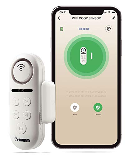 BRAUMM WiFi Door and Window Smart Sensor Alarm, Manual and APP Control Wireless Security System with Push Notification, Universal Installation - Battery Operated