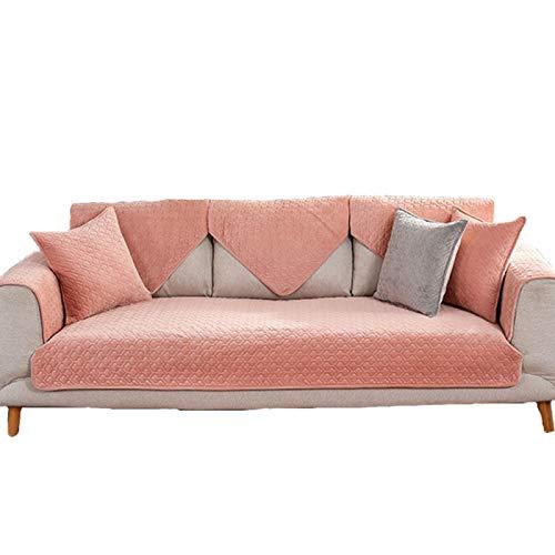 ZHENGRUI Funda de sofá de 3 plazas supersuave de felpa, elegante funda jacquard, lavable a máquina, resistente a la decoración del hogar, protector decorativo, color rosa de 3 plazas: 70180 cm