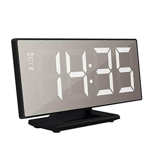 XYBB Wekker Digitale Alarm Klok Led Spiegel Klok Multifunctionele Snooze Display Tijd Nacht Lcd Licht Tafel Desktop Reloj