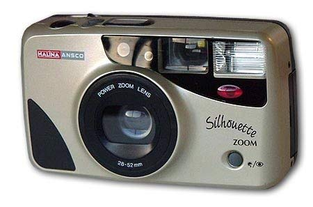 Halina Ansco 35mm Film Camera Vintage Point & Shoot Flash Zoom Lens 28-52mm