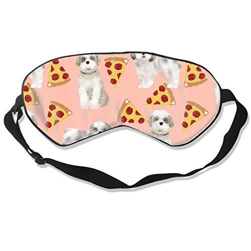 Shih Tzu Pizza Peach Voedsel Hond Rassen Hond Ras Des 100% Zijde Slaap Masker Comfortabele Niet-Giftig, Geurloos en Onschadelijk, Zachte Blinddoek Oogmasker Goed voor Reizen en Slaap
