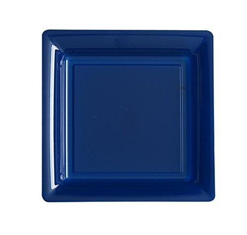 Ma Vaisselle Jetable - Assiette Carree Couleur Bleu Marine Diametre 180