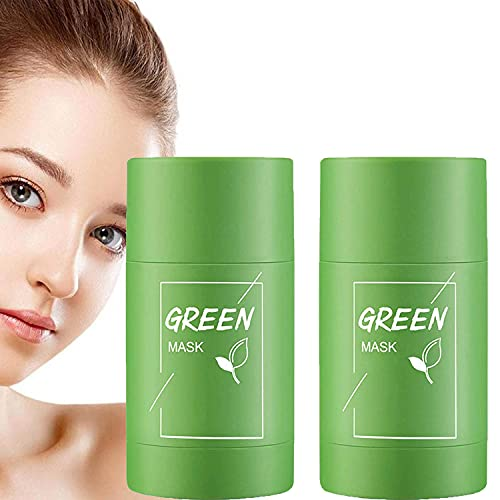 Green Tea Purifying Clay Mask, Face Moisturizes Oil Control, Deep Clean Pore, Improves Skin,for Men Women All Skin Types