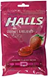 Halls Strawberry Flavor Menthol Drops, 30 Each (Pack of 6)
