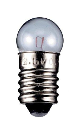 10 Stück Kugelförmige Lampe E10, 11.5x24mm 12V 0.10A 1.20W