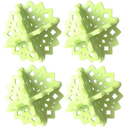 Feitb Filtre de Cheveux Net Machine à Laver Flottante Ménage Réutilisable Outil de Nettoyage Outil d'extraction Sac de Maille de Peluche Filet Filtrant Sac Pochette de Boule de Lavage X1/2/4 (Vert-4)
