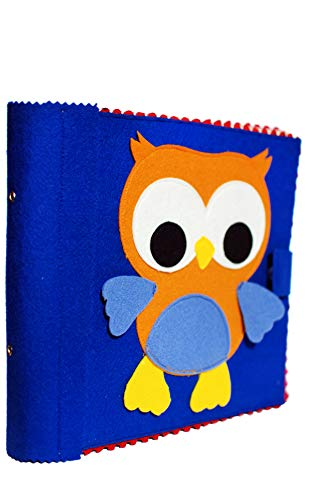 """Muddy Puddle – """"Hoot Hoot"""" Colorful Owl Busy Book – Best Educational Toy For Infants and Toddlers – Fun Activity Quiet Book for Kids 1-4 years – Soft Fabric Book For Fine Motor Skills And Pretend Play"""
